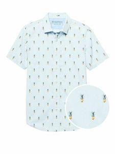 Banana Republic Pineapple Grant Luxe Poplin Shirt